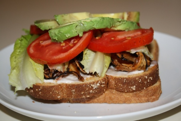Vegan BLT & Avocado sandwich