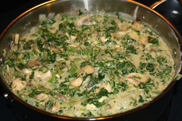 Spinach & Mushroom Etouffee